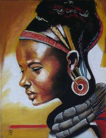 Frau, Indianerin, Portrait, Kopfschmuck