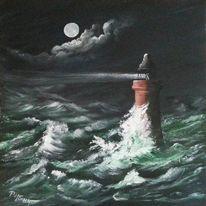 Ostsee, Realismus, Meer, Sturm