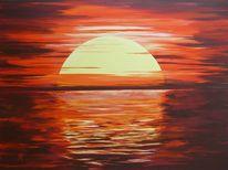 Ufer, Abend, Urlaub, Licht