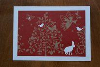 Glückwunschkarte, Weihnachten, Stolz, Hase