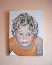 Mädchen, Portrait, Gouachemalerei, Kind
