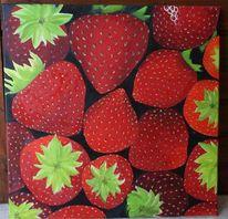 Erdbeeren erdbeere erdbeerzeit, Malerei, Stillleben
