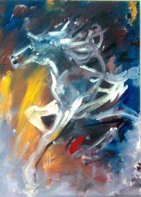 Acrylmalerei, Pferd figur, Malerei, Abstrakt