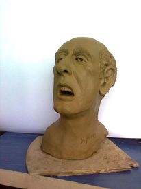 Sculptr bust, Plastik, Figural, Büste