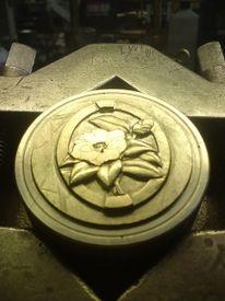 Kunsthandwerk, Metall, Relief, Stahl