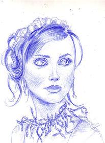 Schauspieler, Russisch, Zeichnungen, Portrait