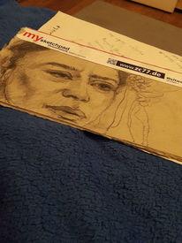 Frau, Leid, Schicksal, Zeichnungen