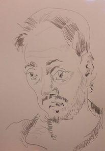 Mann, Trauma, Geständnis, Zeichnungen