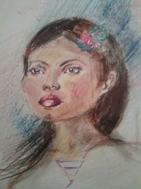 Zeichnungen, Portrait, Kuli