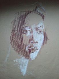Karton mit struktur, Pastellmalerei, Skizze, Zeichnungen