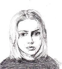 Trauer, Mädchen, Dunckel, Zeichnungen