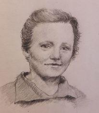 Frau, Oma, Mädchen, Zeichnungen