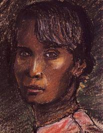 Zeichnungen, Portrait, Frau