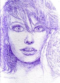 Erstauntschönheit, Zeichnungen, Portrait,