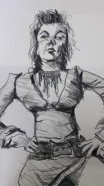 Kleid, Frau, Ausdruck, Zeichnungen