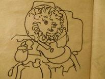 Gitarre, Kopf, Situation, Zeichnungen