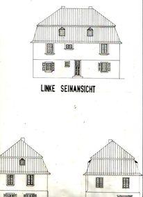 Architektur Haus Skizze