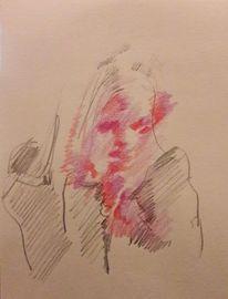 Frau, Anziehung, Zeigen, Zeichnungen