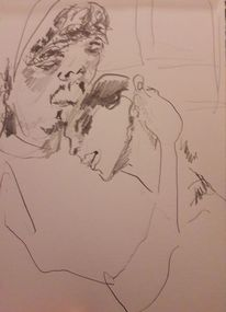 Frau, Vertrauen, Mann, Zeichnungen