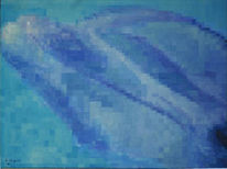 Raster, Delfin, Malerei, Figural