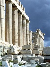 Blau weiß, Griechenland, Akropolis, Urlaub