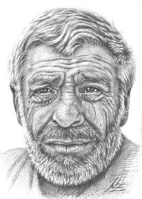 Portrait, Gesicht, Griechenland, Alter mann
