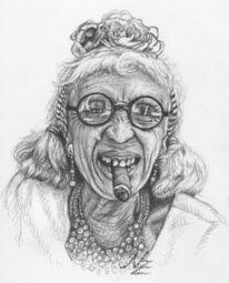 Zigarre, Gesicht, Zeichnung, Alter