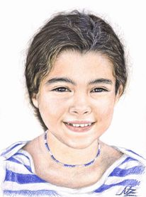 Mädchen, Portugal, Gesicht, Lächeln