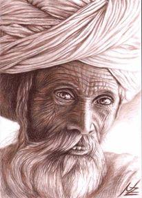 Rajasthan, Falten, Realismus, Inder