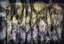 Erosion, Pastellmalerei, Abstrakt, Malerei
