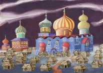 Russland, Malerei, Moskau, Deckfarbe