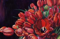 Stillleben, Blumen, Tulpen, Malerei