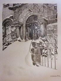 Kirche, Winter, Versöhnungskirche, Striesen