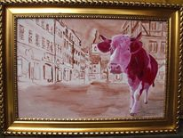 Stier, Kunst auf osb, Galerie freiwerk, Kalb