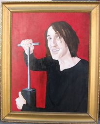 Ölmalerei, Von andreas schmelzer, Hartfaser, Tommy