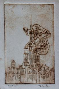 Gegenwartskunst, King koala, Druck, Papst