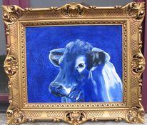 Kunst kuh, Blau, Kunst aus lauterbach, Kuh