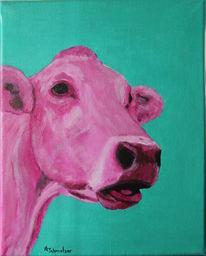 Acrylmalerei, Gegenwartskunst, Moderne kunst, Kuh kuhmaler