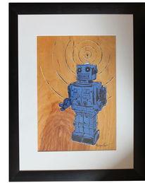 Moderne kunst, Gegenwartskunst, Robboter, Radierung