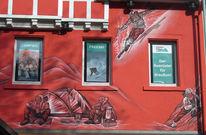 Triberg, Out door hütte, Fassadenbemalung, Wandmalerei