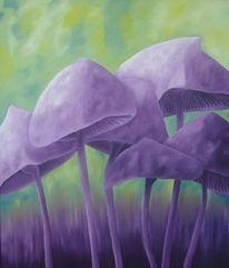 Pilze, Ölmalerei, Flieder, Malerei