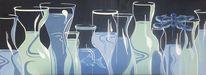 Blau, Wasser, Modern, Ölmalerei
