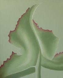 Blätter, Grün, Natur, Ölmalerei