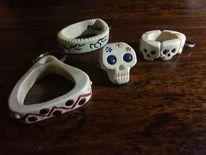 Knochen, Schädel, Schlüsselanhänger, Kunsthandwerk
