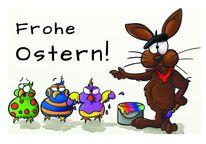 Ei, Frohe ostern, Malen, Osterhase