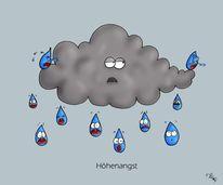 Tropfen, Wolken, Höhenangst, Regen
