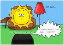Sonnenstrahlen, Warnung, Krebs, Sonne
