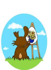 Ostern, Van gogh, Sonnenblumen, Hase