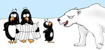 Plan, Arktis, Pinguin, Eisbär