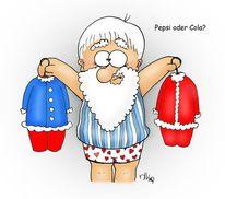 Pepsi, Weihnachtsmann, Anzug, Cola